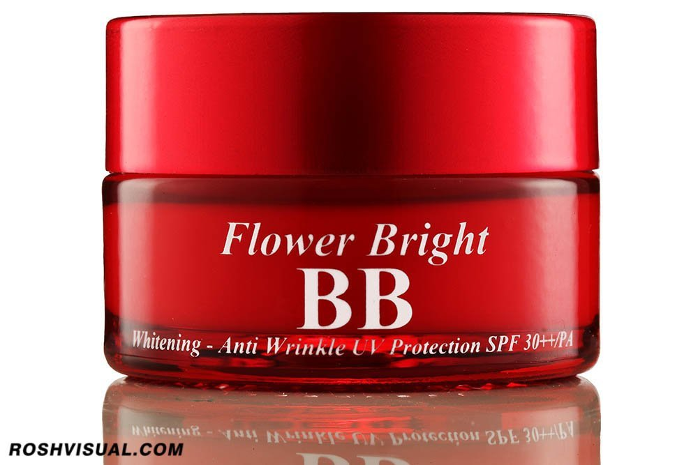 indonesian cosmetic photographer, jakarta cosmetic photographer, jakarta product photographer, fotografer kosmetik terbaik indonesia, kosmetik BB flower bright merah, korea,
