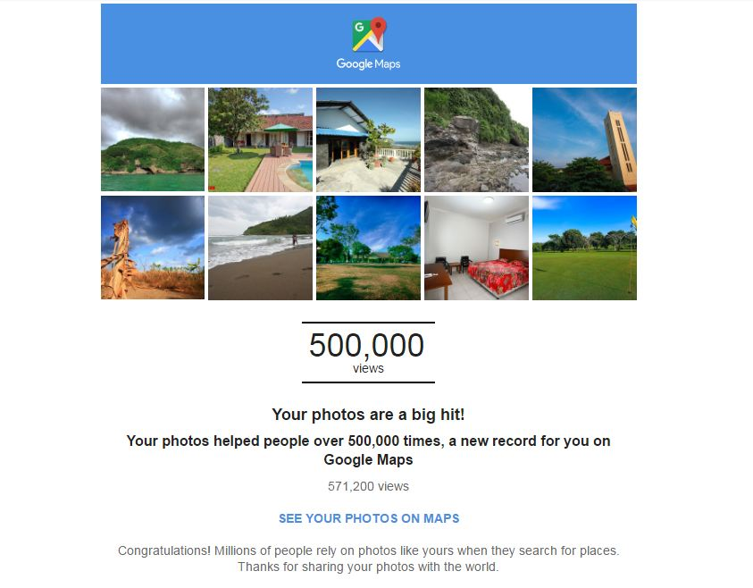 roshvisual 500,000 big hit on google map
