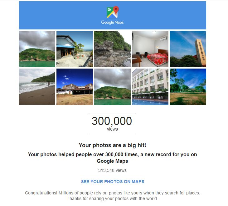 roshvisual Big Hit 300.000 on google map google local guides